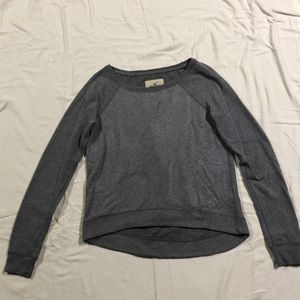 Hollister Tops - grey sweater with silver sparkles